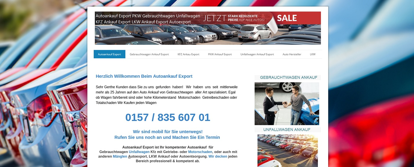 auto-ankauf-exports.de - Autoankauf Düsseldorf